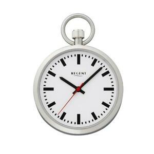 【送料無料】腕時計 リージェントポケットウォッチアナログクォーツシルバーステンレススチールregent taschenuhr edelstahl analog quartz silberfarben p041