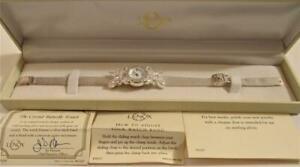 【送料無料】腕時計 レノックスソリッドスターリングシルバークリスタルボックスバタフライウォッチミントlenox solid 925 sterling silver the crystal butterfly watch mint in box nos