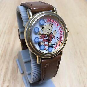 【送料無料】腕時計 ビンテージレザーアナログクォーツレディメリークリスマスバッターvintage majesti lady merry christmas leather analog quartz watch hour~ batter