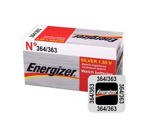 【送料無料】腕時計 バッテリーウォッチ5 x 10 x 20 energizer 364 363 battery 155v watch batteries silver oxide ag1 g1