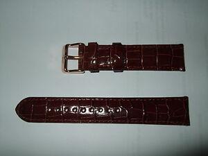 【送料無料】腕時計 オリジナルダークブラウンレザーウォッチストラップバックル