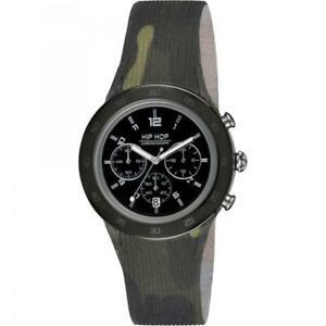 【送料無料】腕時計 オロロジオヒップホップクロノシリコーンカムフラージュorologio hip hop metal hwu0710 chrono silicone camouflage militare nero xl 42mm