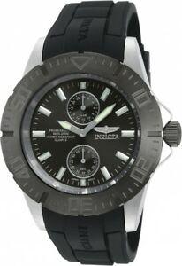 【送料無料】腕時計 メンズプロダイバーブラックラバーストラップウォッチ