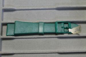 【送料無料】腕時計 ブレスレットbracelet montre caoutchouc vert, plonge 20mm