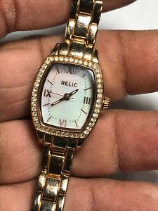 【送料無料】腕時計 レディースローズゴールドトーンアナログウォッチladies rose gold tone relic zr34300 analog watch