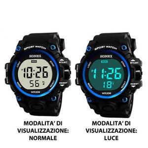 【送料無料】腕時計 スポーツカジュアルデジタルsport casual digitale orologio quarzo honhx gomma acciaio vetro resistente mc
