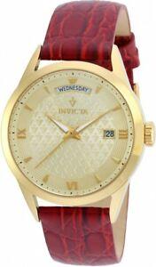 【送料無料】腕時計 ビンテージレッドレザーストラップウォッチ womens invicta 21527 40mm vintage red leather strap watch