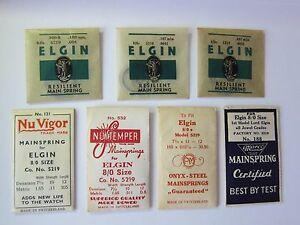 買得 【送料無料 mainspring】腕時計 ビンテージメインスプリングサイズモデルnos vintage elgin 80s mainspring vintage part various various sizes models, 【ポイント10倍】:2a2f475e --- holger-marschall.info
