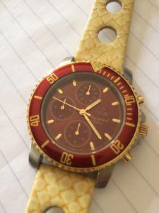 【送料無料】腕時計 クロノグラフhagal chronograph 110sec wr 100m, ref5262, nos