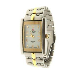 【送料無料】腕時計 スイスラインサファイアステンレススチールトーン×swiss line sapphire watch stainless steel two tone 1 x 625