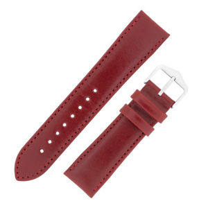 【送料無料】腕時計 スムーズスカーレットレッドストラップウォッチhirsch osiris smooth finegrain calf leather unpadded watch strap in scarlet red
