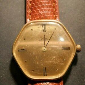 【送料無料】腕時計 ブレスレットマヌエルmontre leblin or 18k bracelet cuir remontage manuel