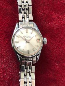 【送料無料】腕時計 ウォルサムジュエルレディーススイスステンレススチールwaltham 21 jewel ladies swiss made watch stainless steel with red date
