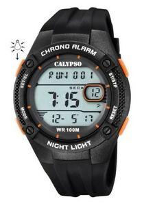 【送料無料】腕時計 カリプソブラックオレンジデジタル
