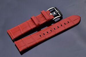 【送料無料】腕時計 アラゴンレッドレザーストラップaragon 24scred red leather strap