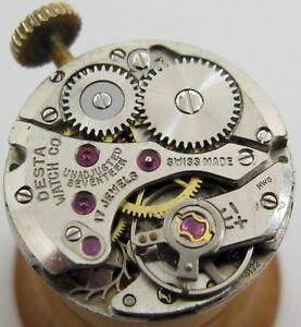 【送料無料】腕時計 デスタlady felsa f 4122 desta watch co 17 jewels movement for part