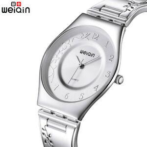【送料無料】腕時計 クォーツストラップシルバーweiqin 7mm ultra slim quartz watch woman strap carving silver women watches