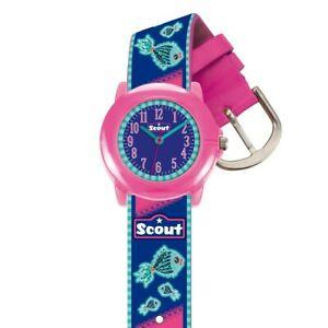 【送料無料】腕時計 スカウトクリスタルクロックscout kinder uhr lernuhr crystal fish mdchenuhr 280305010