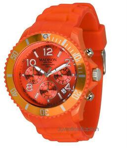【送料無料】腕時計 マディソンニューヨーククロノレディースシリコンオレンジmadison york u436204 chrono damen herren uhr silikon kinderuhr orange neu