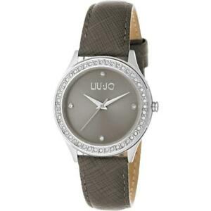 【送料無料】腕時計 ラグジュアリーリュジョドーナスワロフスキーorologio donna liu jo luxury roxi tlj1064 pelle grigio swarovski