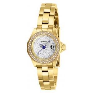 【送料無料】腕時計 ステンレススチールゴールドトーンウォッチinvicta womens angel quartz 100m stainless steel gold tone watch 28456