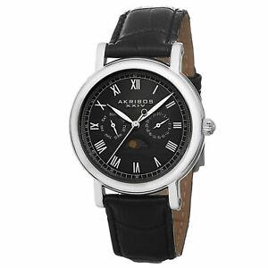 【送料無料】腕時計 ブラックレザーストラップクオーツカレンダー