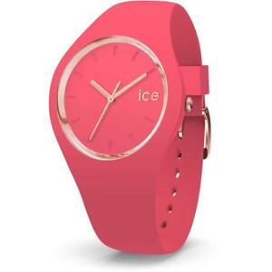 【送料無料】腕時計 オロロジオシリコーンピンクゴールドメートルウォッチorologio ice watch glam ic015335 silicone rosa fucsia gold dorato 100mt