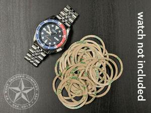 【送料無料】腕時計 リングベゼル10 3m adhesive rings for skx 007, 009, 011, 171, 173, 175 amp; 7002 bezel inserts
