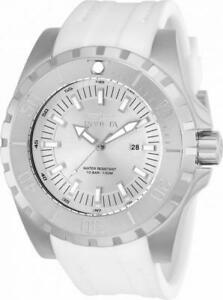 【送料無料】腕時計 プロダイバーメンズラウンドアナログシルバーストーンホワイトウォッチinvicta pro diver 23739 mens round analog date silver tone amp; white watch
