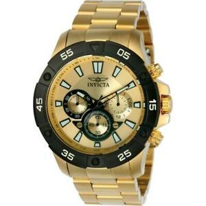 【送料無料】腕時計 プロダイバーメンズゴールドトーンタキメータークロノグラフウォッチinvicta pro diver 22789 mens goldtone chronograph watch with tachymeter