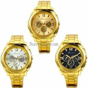 豪華 【送料無料】腕時計 ファッションビジネスメンズゴールドトーンクオーツステンレススチールfashion business mens luxury gold business tone quartz watch quartz stainless steel wrist watch, パウワウRT代官山:a4e198e9 --- nuevo.wegrowcrm.com