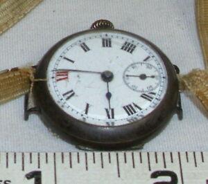 【送料無料】腕時計 シルバーラウンドケースメンズパイロットウオッチメーカー800 silver case mens wwi military round pilots wristwatch 1920s