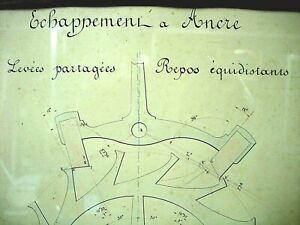 【送料無料】腕時計 デザインアンカーパレットancien dessin horloger echappement a ancre anchor ancre anker jeweled pallet