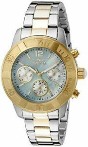 【送料無料】腕時計 エンジェルクォーツクロノメートルトーンステンレススチールinvicta womens angel quartz chrono 100m two tone stainless steel watch 21613