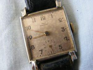 【送料無料】腕時計 スクエアケースラグvery rare 1940s square cased 15 jewels teadrop lugs working order