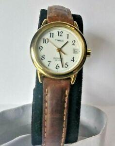 【送料無料】腕時計 ladies gold tone quartz watch w date calendar, indiglo wr 30 meters 0193