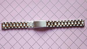 【送料無料】腕時計 ブレスレットビコメーカbracelet montre acier inoxydable * bicolore marque rowi 12mm reffh09