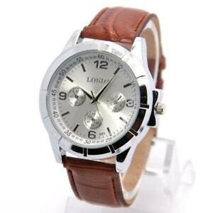 【送料無料】腕時計 ホットセールレザークォーツファッションウォッチスポーツhot pu leather watch men fashion military sports quartz wrist watch relo