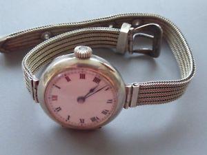 【送料無料】腕時計 アルジェントリレーmontre mcanique femme argent 7 poinons 25gr 21cm cadran 2,5cm fonctionne tb
