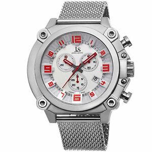 【送料無料】腕時計 ジョシュアメッシュステンレススチールスイスクロノグラフウォッチ mens joshua amp; sons js58ssw swiss chronograph mesh stainless steel watch