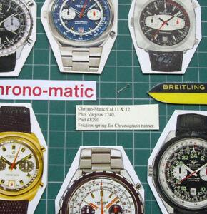 【送料無料】腕時計 #クロノマチックワイドヴァ8290 friction spring1970s chronomatic breitling heuer cal111214val 7740