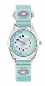 【送料無料】腕時計 ランプテーマナイロンストラップーtikkers girls light green flower theme time teacher nylon strap watch ntk0014