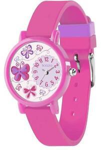 【送料無料】腕時計 tikkers girls stunning butterfly pattern pink silicone strap watch tk0074
