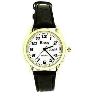 【送料無料】腕時計 メンズゴールドストーンケースベゼルブラックストラップウォッチ