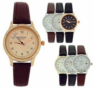 【送料無料】腕時計 レディースアナログストラップreflex ladies girls analogue pu strap watch gift for her