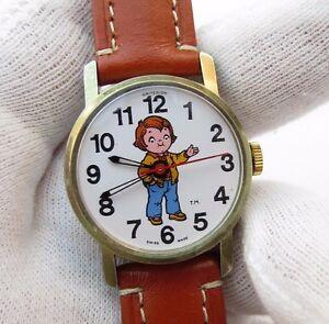 【送料無料】腕時計 キャンベルスープオリジナルマニュアルキッズレディースcampbell soup 1982 original edition,manual wind,kidsladies character watch,914