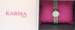 【送料無料】腕時計 カルマドナビアンコkarma, orologio da donna, qdt bianco, bracciale maglie acciaio  d90