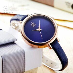 【送料無料】腕時計 スリムクオーツレディースビジネスshengke slim quartz watch top leather women watches ladies business wristw
