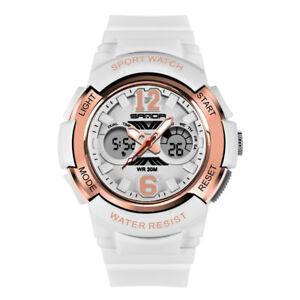 腕時計 スポーツウォッチレディースデジタルsanda   electronic sport watch women watches ladies led digital wristwatch  c