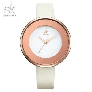 【送料無料】腕時計 ゴールドクォーツクリスマスshengke brand luxury gold watches women leather quartz xmas gifts for her mother